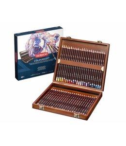 Derwent  Derwent Coloursoft 48 crayons de couleur dans une boîte en bois