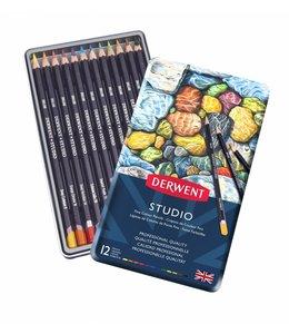 Derwent  Derwent Studio 12 pencils in a tin
