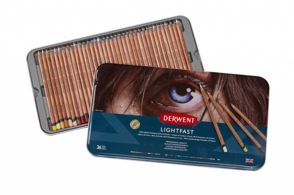 Derwent Lightfast 36 kleuren blik