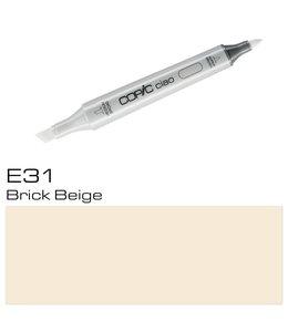 Copic Marqueur Copic Ciao E31 Brick Beige