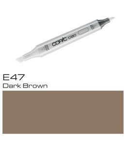 Copic Marqueur Copic Ciao E47 Dark Brown