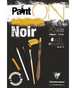 Clairfontaine Paint'On Black pad 20 sheets 250g A3