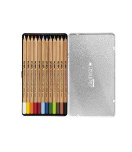 Lyra Boîte en métal avec 12 crayons de couleur REMBRANDT AQUARELL