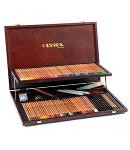 Lyra Caja de madera REMBRANDT PROFESSIONAL con 96 lápices de colores