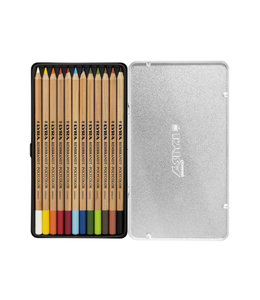 Lyra Metal box with 12 REMBRANDT POLYCOLOR  Colouring Pencils