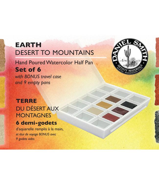 Daniel Smith Daniel Smith Watercolor Half Pan Sets Earth Watercolor Half Pan Set