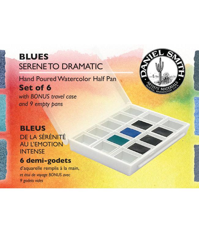 Daniel Smith Daniel Smith Watercolor Half Pan Sets Blues Watercolor Half Pan Set