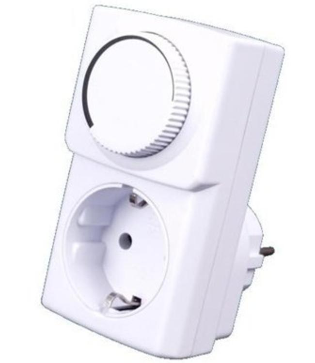 Plug-in Dimmer tot 150 Watt voor warme voetenmatten
