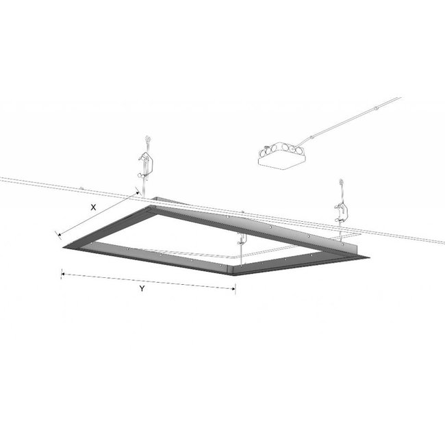 Ecosun Aluminium  Frame voor het inbouwen van  Ecosun infrarood panelen