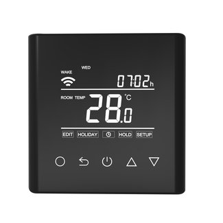 "VH Control ""Calypso-W"" Digitale Wifi thermostaat - Zwart"