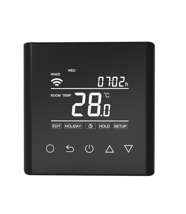 "VH Control ""Calypso-W"" Digitale Wifi inbouwthermostaat - Zwart"