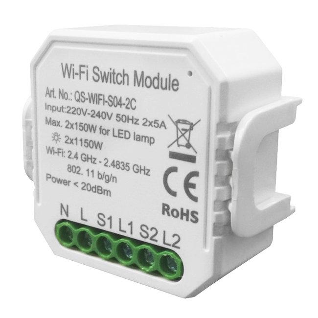 VH Control WiFi Smart Schakelaar tweevoudig (voor elektrische apparaten en LED)