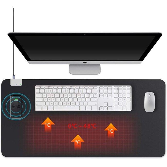 CityLine Topdesign Verwarmde infrarood bureaulegger (90 x 42 cm) voorzien van draadloos laadstation