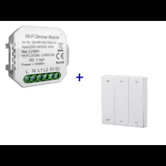 VH Control Smart Home combi - Dubbele LED dimmer met RF bediening
