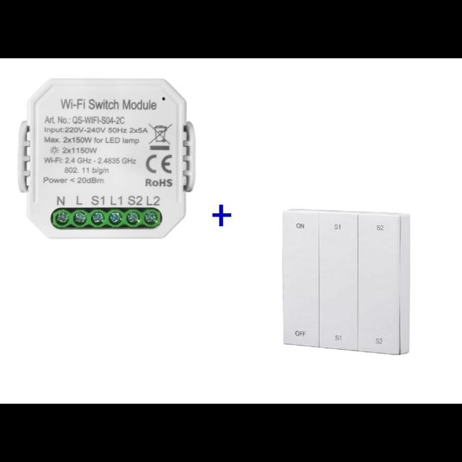 VH Control Smart Home combi - Dubbele schakelaar met RF bediening