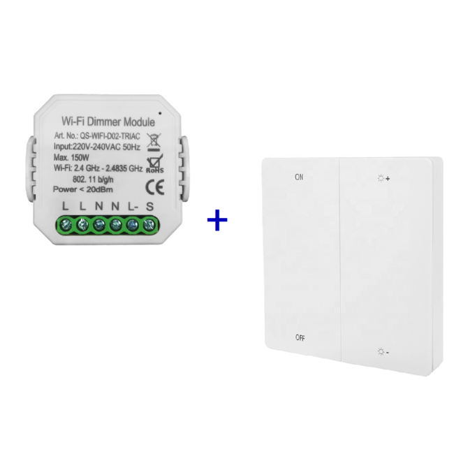 VH Control Smart Home combi - Enkele LED dimmer met RF bediening