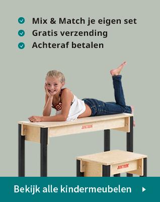 Houten design kindermeubels - hip kindermeubilair om te spelen banner 2