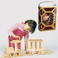 Houten plankjes speelgoed