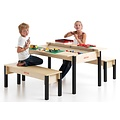 Kindertafel hout - 6 persoons