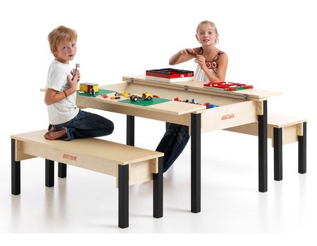 Kindertafel hout - 6 persoons