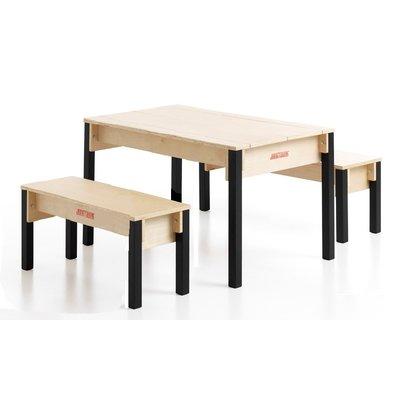 Kindertafel hout voor 4-6 kinderen