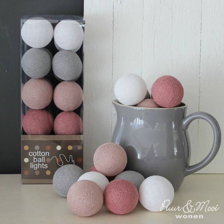 Cotton Ball Lights - Dirty Rose