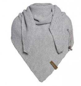 Coco omslagdoek - licht grijs - Knit Factory