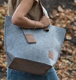 Vilten tas - licht grijs - Knit Factory