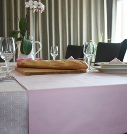 Tafelloper - Effen roze