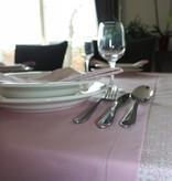 Tafelloper van biokatoen - Effen roze