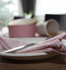 Servetten - set van 4  - Romantisch roze
