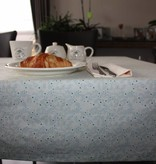 Tafellaken van biokatoen - Aqua