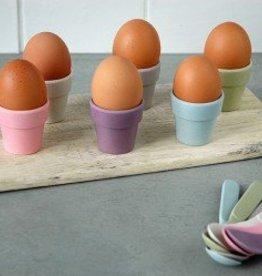 Set van 6 eierdopjes