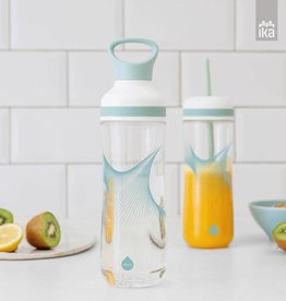 Equa waterfles met smoothie cup - Wave