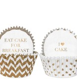 Wit gouden cupcake vormpjes