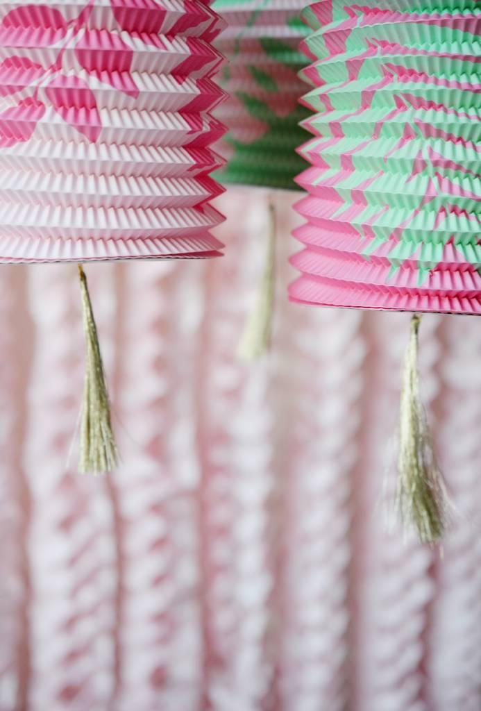 Set van 3 papieren lantaarns