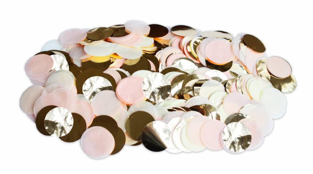 Confetti peach goud