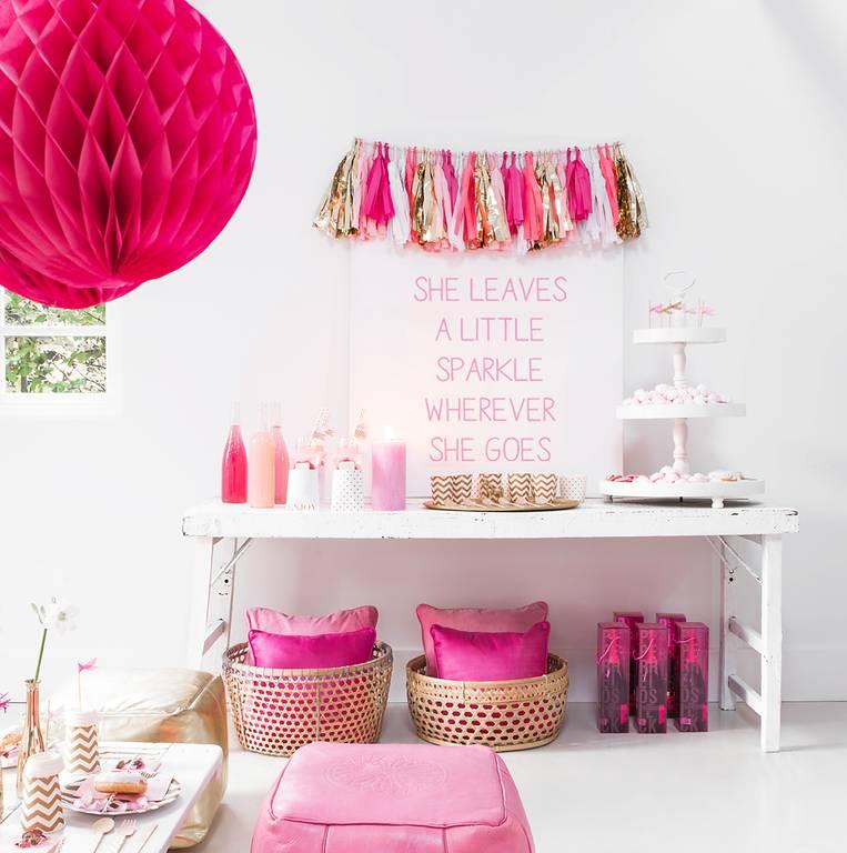 Mint Pink gold tassel slinger