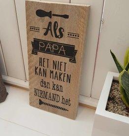 Tekstbord 'Papa'