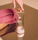 Equa glazen waterfles Metallic Rose Gold