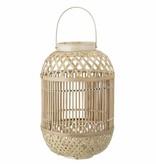 Bamboo windlicht met glas - Naturel - Bloomingville