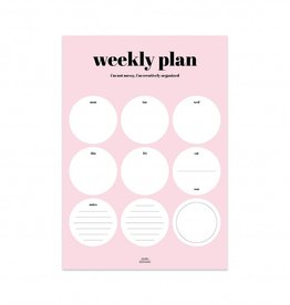 "Notitieblok ""Weekly plan"" - Studio stationery"