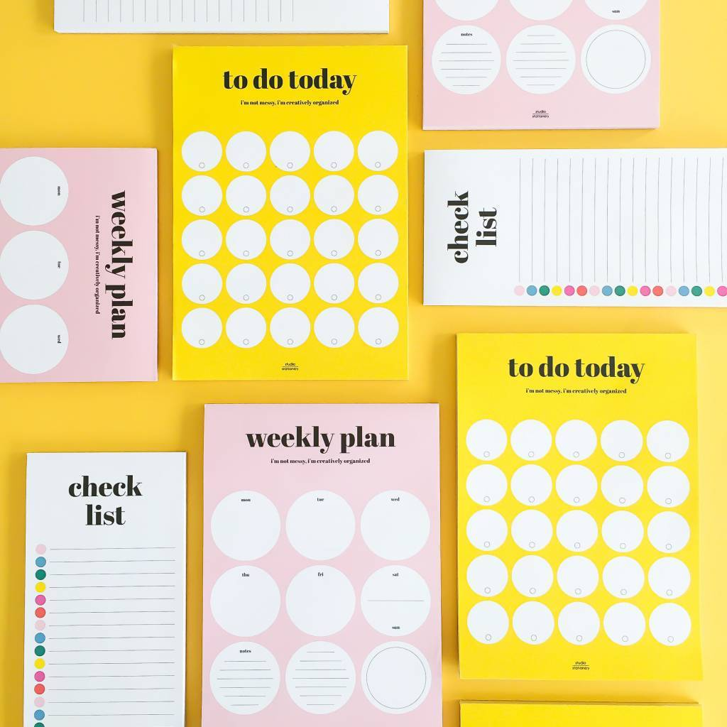 "Notitieblok ""Weekly plan"" - Studio stationery"