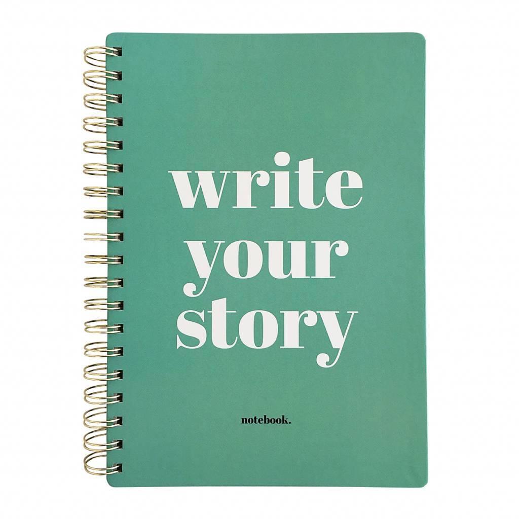 "Notitieboek ""Write your story"" - Studio stationery"