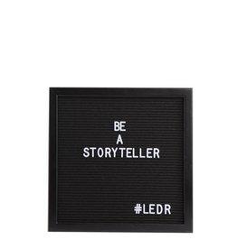 Letterbord zwart met zwarte kader - Ledr