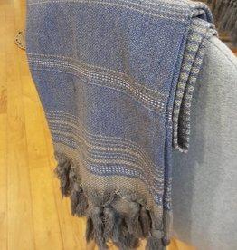 Hamamdoek Sjaal blauw/grijs