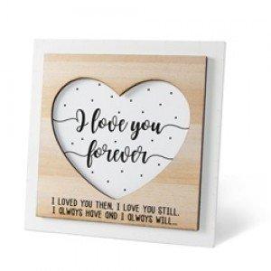 Houten fotolijstje 'I love you forever'