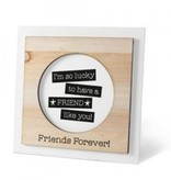 Houten fotolijstje 'Friends'