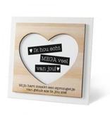 Houten fotolijstje 'Ik hou van jou'