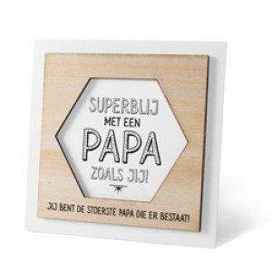 Houten fotolijstje 'Papa'